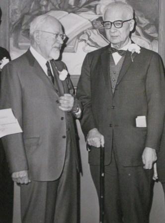 Horace M. Kallen und Mordecai M. Kaplan, 1962
